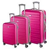 d&n Travel Line 9400 Trolley-Set 3tlg pink