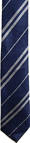 Wardah Limited Wizard Krawatte Blau Silber Gestreift 3Größen Schule Uniform, ()