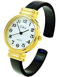 e03242931f33 STC Reloj de Pulsera para Mujer con Correa acrílica de Color Azul Dorado