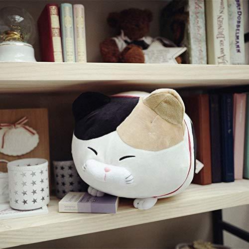ysldtty Japan Amuse Fortune Katze Lucky Cats Plüschtier Gefüllte Kinder Puppe Bart Segen Katze Kissen Cartoon Weichtier Spielzeug Weiß 50 cm
