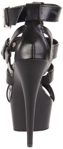 Pleaser - Delight 658, Scarpe col tacco Donna Nero (Black (Blk Faux Leather/Blk))