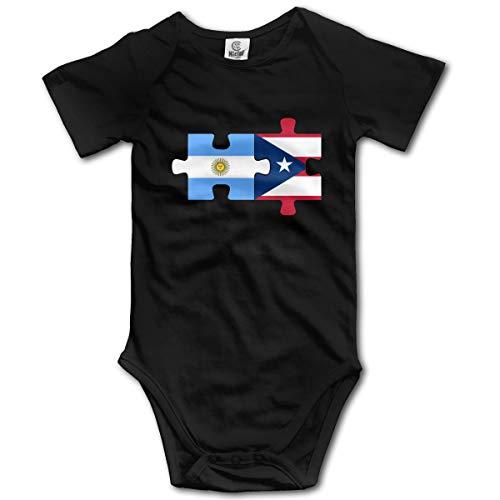 Louis Berry Argentinien Puerto Rico Flaggen Puzzle, Baby Kurzarm Strampler Baby Body Neugeborenen Overall Strampler -