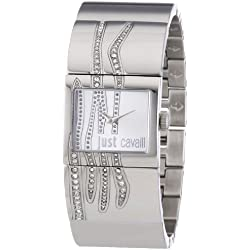 Just Cavalli Pattern Women's Quartz Watch with White Dial Analogue Display and Orange Stainless Steel Strap R7253588502