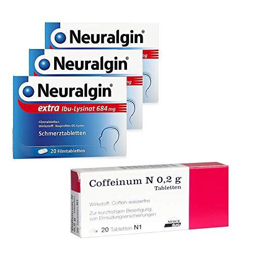 Spar-Set 3x Neuralgin (684mg/20Tbl.) + gratis 1x Coffeinum N 0,2g (20Tbl.)