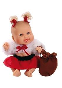Paola Reina - Lucía, muñeca de Vinilo, Vestido en Papá Noel 22 cm (01135)