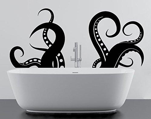(60 x 26 cm, Oktopus Tentakel oder Fangarme und Spielbretter besitzen Vinyl Wandtattoo für Bad, Wohnzimmer und Bad, Motiv '