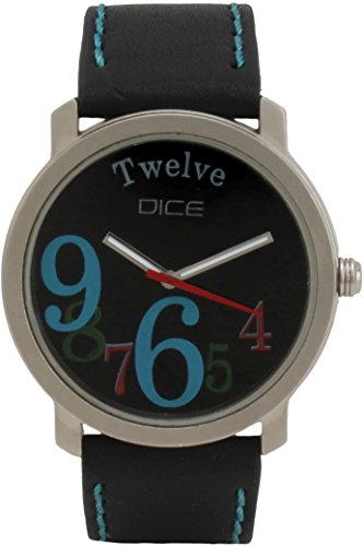 """Dice """"Ruff Buff 0506"""" Wrist Watch for men. Fitted with sober, non shining, gun metal Body and Black dial and anti allergic leather strap"""