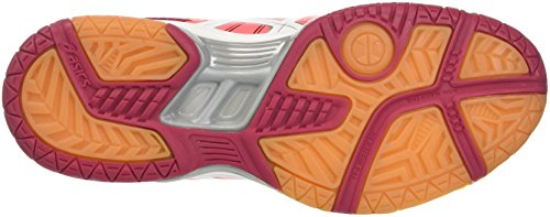 Asics Gel-Rocket 7, Chaussures de Volleyball Femme Multicolore (Flash Coral/white/cerise)