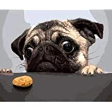Números de Arte Creativo para Perros y Galletas, para Adultos, tamaño 16 x 20