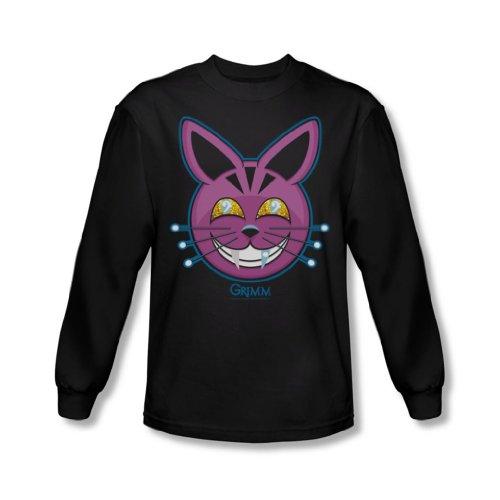 Grimm - Herren Retchid Kat Langarm-Shirt In Schwarz Black