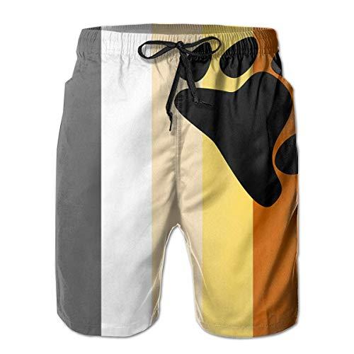 kjhglp Men's Swim Trunks Bears Pride Flag Casual Sportswear Quick Dry Beach Shorts for Boys Summer XXL -