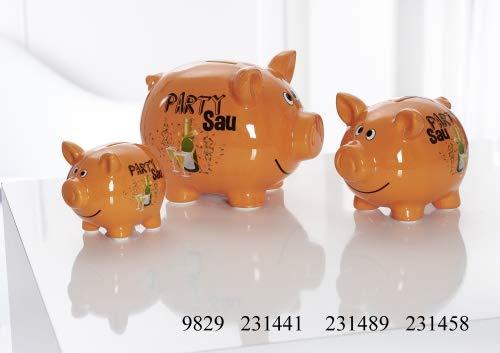 Ritzenhoff & Breker Sparschwein Größe Sparschwein 10 cm Orange Party Sau