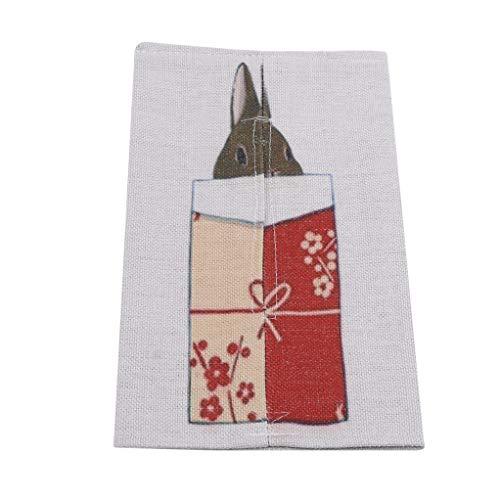 Garispace Tissue Box Baumwolle Leinen Home Auto Serviette Papier Container Nette Papier Handtuch Serviette Fall Beutel Für Heimtextilien (Stil 4) - Servietten Fall