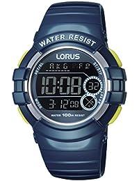 Lorus Watches - R2315KX9 - Montre Femme - Quartz Digitale - Chronomètre/Alarme/Boussole/Fuseaux horaires - Bracelet Caoutchouc Bleu