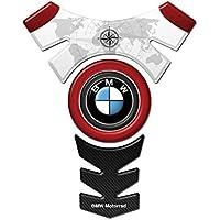 Tankpad Motorad Draht Muster Tankschutz ' BMW CENTER LOGO rot STIL'' Polymer 3D