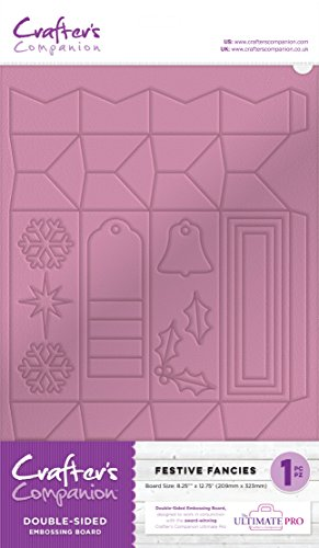 Crafter's Companion EMBRD-FEST Festlich Einbildungen Ultimative Prägeplatten Lila-Purple, Plastic, Embossing Boards - Festive Fancies, 37 x 22.8 x 0.2 cm