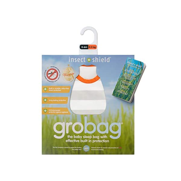 Gris rayas 0.5 Tog Insect Shield Grobag
