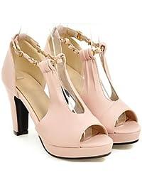 SJJH Dress Fashion Pumps mit Blockabsatz Hochzeit & Arbeit Schuhe 6WItoOd92