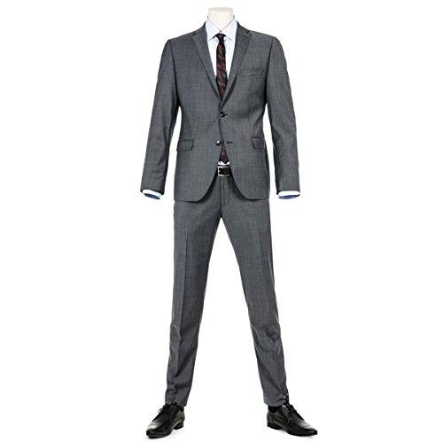 Benvenuto Purple - Slim Fit - Herren Baukasten Anzug im jungen Trend Look mit sehr schlankem Schnitt in Anthrazit, (20776, Modell: 61350, 61284), Größe:48, Farbe:Anthrazit (1283) (Anzug Italienischer Merino-wolle)