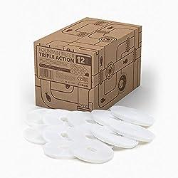 Catit 2.0 Triple Action Pack de 12 Filtres pour Fontaine à fleur pour Chat