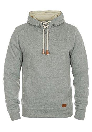 BLEND Alexej Herren Kapuzenpullover Hoodie Sweatshirt aus hochwertiger Baumwollmischung, Größe:M, Farbe:Zink Mix (70815)