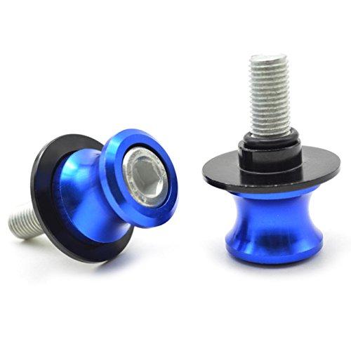 2pcs Universal CNC Ständeraufnahme M8*1,5 Bobbins Montageständer für Kawasaki Z900 Z800 Z1000 Z650 / GSXR 600 750 1000 GSR 600 750 / S1000RR S1000R S1000XR/ CBR250R CBR600RR CBR900RR CBR954RR (Blau)