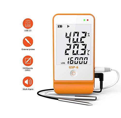 Temperatur Datenlogger- Thermometer Hygrometer Feuchtigkeits-Meter Feuchtigkeit Monitor Temperatur Messgerät Thermostat Sensor Sonde