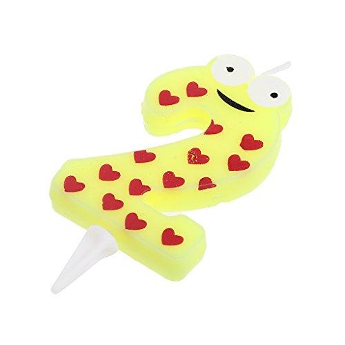 Jiamins Cartoon-Nummer Geburtstagskerzen,Kreativ Frosch Cartoon, Kuchen Topper Party Decor (2) (Kuchen Nummer 2 Topper Kerze)