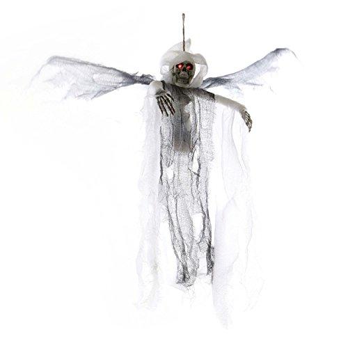 Halloween, Deko, Weißes Skelett mit Flügeln |