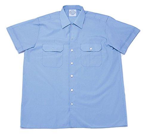 Kostüm Shirt Tales - Originales langärmliges oder kurzärmliges Diensthemd der Deutschen Bundeswehr Securityhemd Farbe Hellblau Größen 2-7 (2 (37/38), Kurzarm)