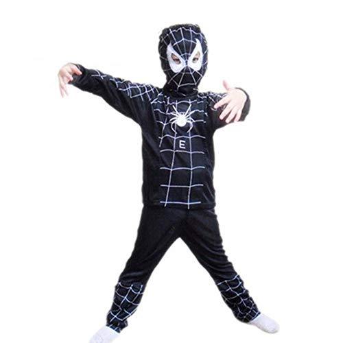 hhalibaba Red Spiderman Kostüm schwarz Spiderman Halloween-Kostüme für Kinder Superheld Umhänge Anime Cosplay Karneval Kostüm Baby Geschenk (Baby Spiderman Kostüm)