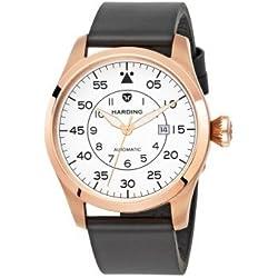 Harding Watch HJ0203 Jetstream - Steel case, black leather strap