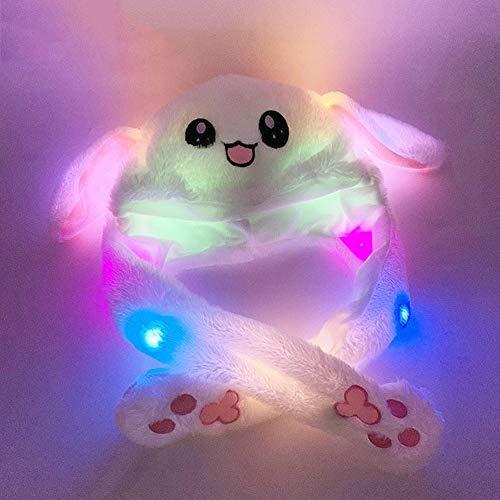 Nettes Kaninchen-Ohr-Form-Hut kann sich bewegen Airbag Magnet-Kappen-Plüsch-Geschenk Tanz Spielzeug