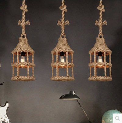 SJMM Fer industriel Loft Vintage Retro pendentif lustre Light lampe plafonnier