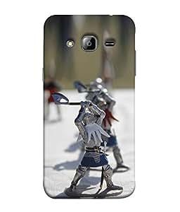 FUSON Designer Back Case Cover for Samsung Galaxy J3 (6) 2016 :: Samsung Galaxy J3 2016 Duos :: Samsung Galaxy J3 2016 J320F J320A J320P J3109 J320M J320Y (Soldiers with axes fun made cartoons )