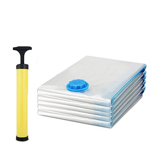 Nisels Vakuumbeutel Set 15 Stück Hochwertiger Vakuumbeutel Aufbewahrungsbeutel mit Pumpe Kleidung Vakuum Platzsparer Kleiderbeutel Transparent 3 Verschiedene Größen Wsserdicht Wiederverwendbar und Robust