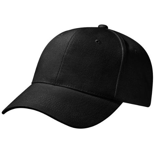 Beechfield - Cappellino 100% Cotone - Unisex (Taglia unica) (Nero)