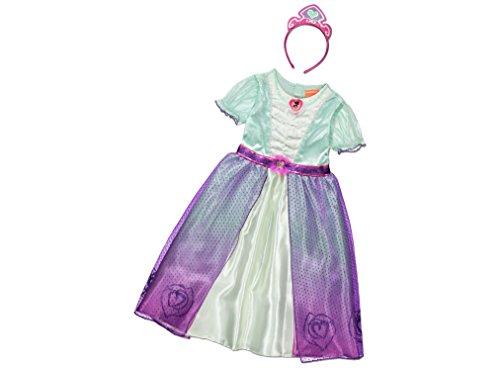 Offiziell lizenzierte Nickelodeon Nella der Prinzessin Ritter Kostüm Mädchen im Alter von 5-6 Jahren Buchwoche Kostüm mit Herz Brosche und Stirnband. Hergestellt unter Lizenz für die George Collection (Prinzessin Der Herzen Kostüm)