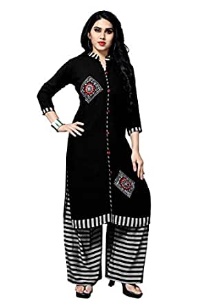 Shreeji Women's Rayon Salwar Suit