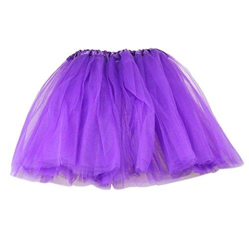 Damen Tutu Unterkleid 1 Cent Artikel Röcke , Petticoat Kleid 50er Rockabilly | Festliches Damenkleid | Blickdicht Fluffiger Ballettrock | Unterröcke Tüllröcke | Fasching Kostüm (Frei, Lila)