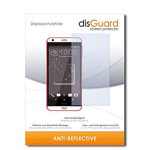disGuard® Bildschirmschutzfolie [Anti-Reflex] kompatibel mit HTC Desire 630 [2 Stück] Entspiegelnd, Matt, Antireflektierend, Extrem Kratzfest, Anti-Fingerabdruck - Panzerglas Folie, Schutzfolie