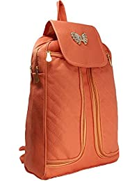 Typify Butterfly Style Leather Casual Shoulder Bag Mini Backpack For Women & Girls