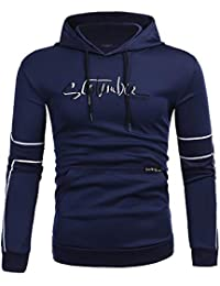 ☺Kapuzenpullover Herren Sweatshirt Hoodies mit Kapuzen Sweatjacke Top Bluse  Trainingsanzüge Sport Fitness Training Basic Pullover 3ca92bf660