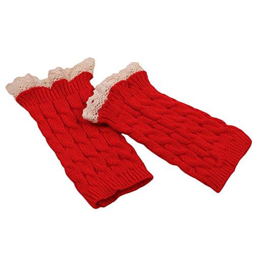 Sannysis Spitze Strick Fringe warme Handschuhe