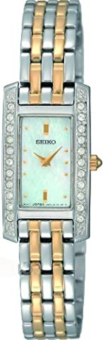 Seiko Women's Quartz Watch with Mother of Pearl Dial Analogue Display and Silver Stainless Steel Bracelet