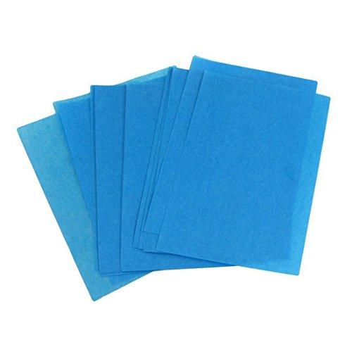 TOOGOO 80 pezzi Blu Blotting olio carta fogli assorbenti