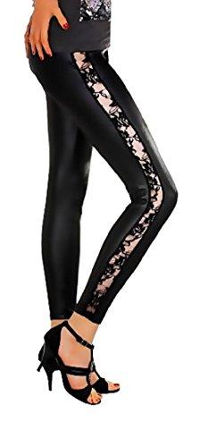 leggings-metallic-latex-wet-look-lack-leder-optik-spitze-gr-s-m-l-xl-xxl-3xl-p909-schwarz-matt-xl-42