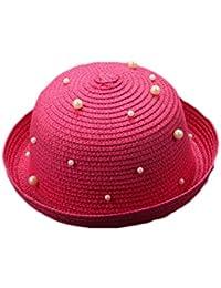 TREESTAR Spring Summer Cute Pearl Cappello di Paglia Colore Solido Baby  Paralume Cupola Cappello Bambini Sport Outdoor Campeggio Spiaggia… 716259665439
