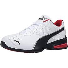 Puma Men'S Tazon 6 FM Running Shoe, White Black Silver, 40.5 2E EU/7 2E UK