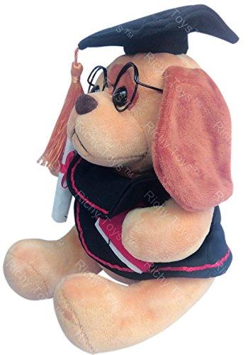 Richy Toys Graduate Musical Dog Stuffed Teddy Bear for Kids Birthday Gift